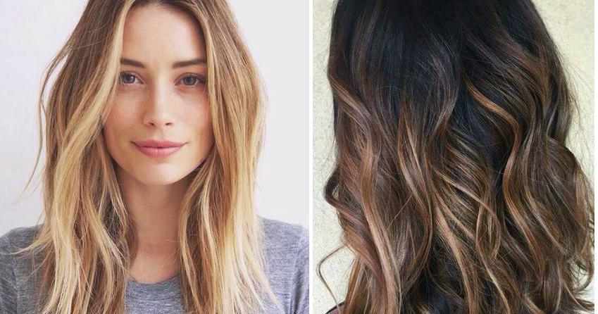 mechas rubias en pelo castaño