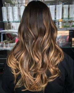 mechas color caramelo
