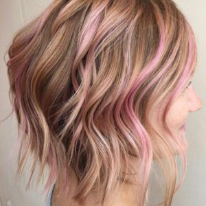 mechas babylights rosadas