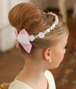 recogido bodas para niña