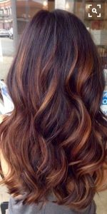 mechas color cobrizo