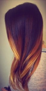 mechas californianas cobrizas
