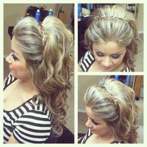 diadema con cabello