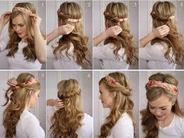 peinados mujeres diadema tela
