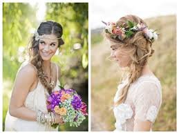 recogidos flores cabello largo