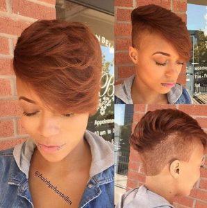 peinados modernos rapados mujeres