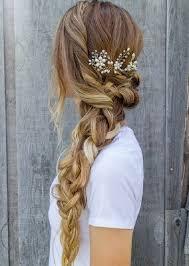 peinados graduacion mujeres pelo largo rubio