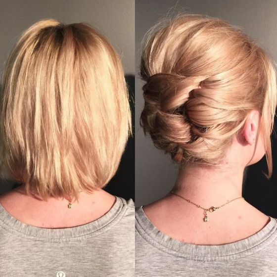 recogido romantico cabello corto