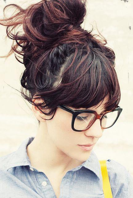 peinados hipster moño
