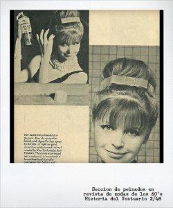 peinados años 60 mujeres cabello largo