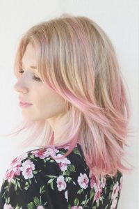 mechas color rosa