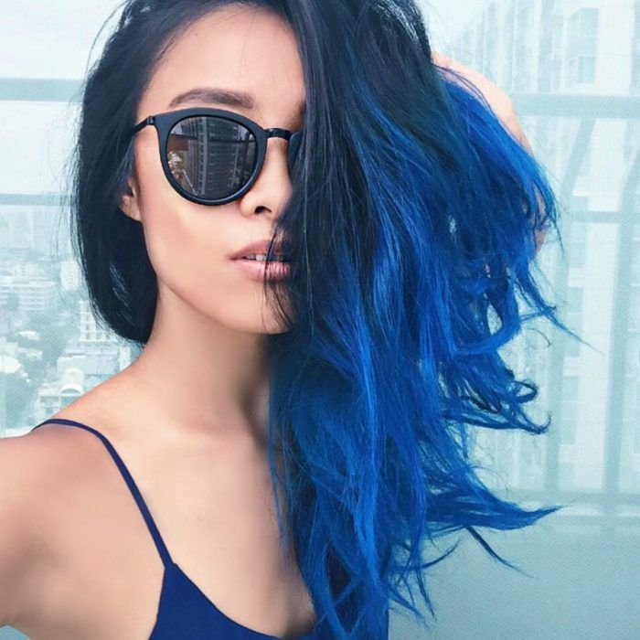 mechas azules californianas