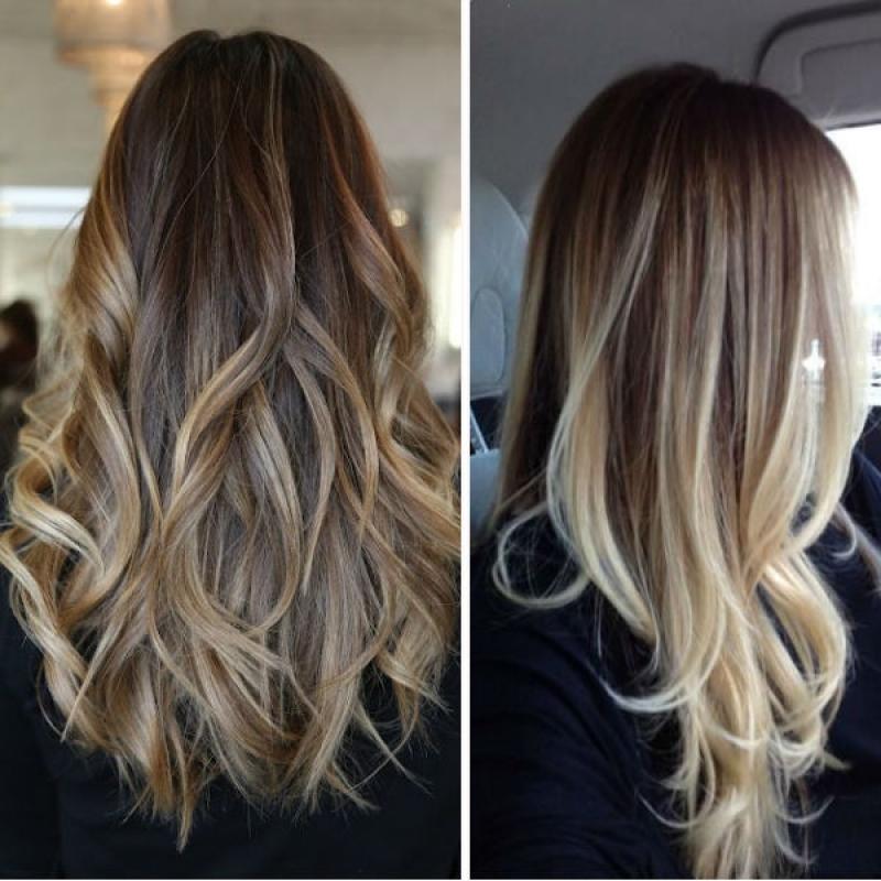 Mechas balayage cabello largo