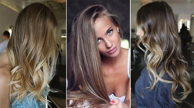 mechas balayage en pelo largo rizado y liso