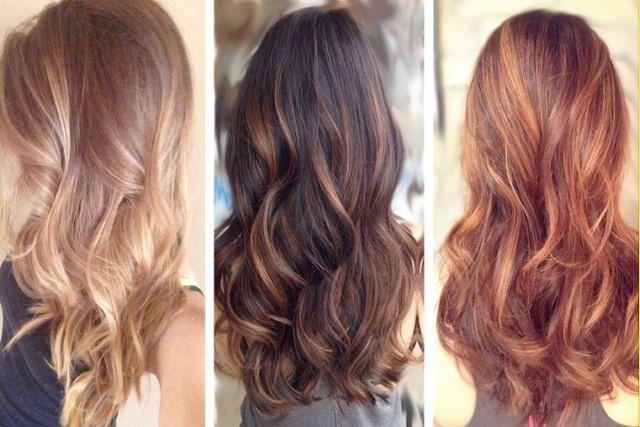 mechas balayage segun color de pelo