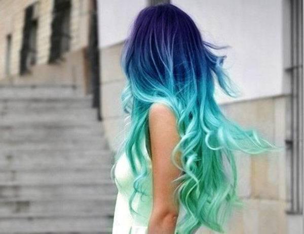 Mechas californianas azul turquesa