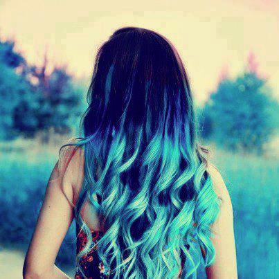 mechas californianas azules