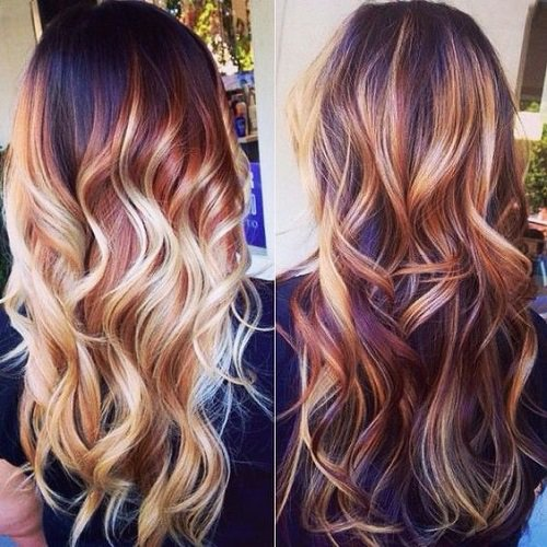 mechas californianas coloridas