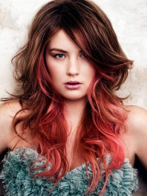 mechas californianas rojas