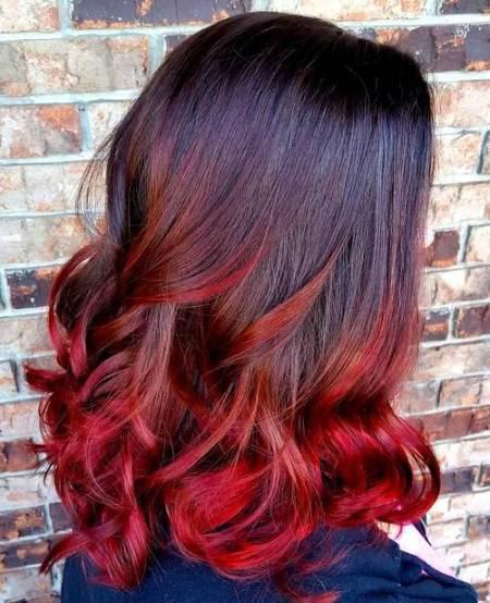mechas californianas rojas