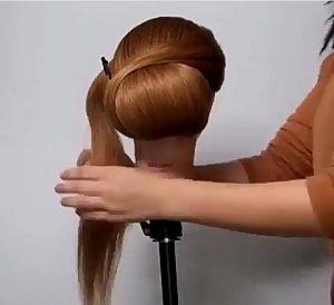 pelo largo recogido paso cuatro