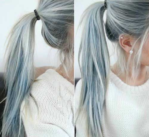 Mechas platinadas grises 2018 fotos con ideas originales - Bano de color en mechas ...