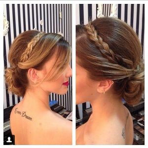peinado elegante diadema