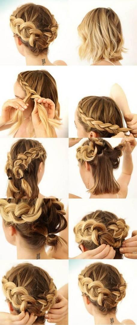 Como hacer peinado recogido con trenza