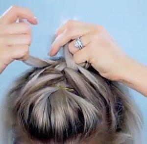 trenza pelo corto novia