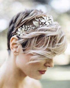 peinado pelo corto para boda