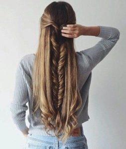 peinado con trenzas pelo largo