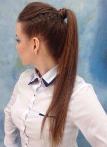 peinado con trenzas a los lados