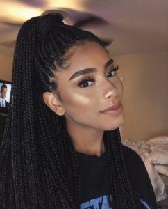 peinados con trenzas afro