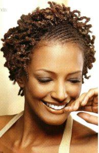 peinados con trenza pelo afro