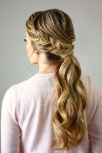 peinados con trenza pelo largo