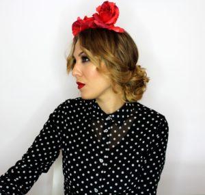peinados faciles y sencillos flamenca