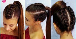 peinados faciles y sencillos coleta