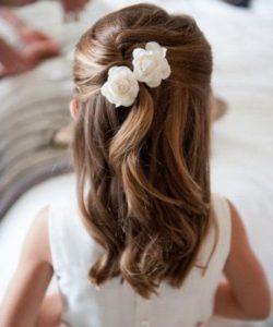 peinados para bodas para niñas