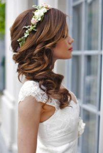 peinados para boda de lado