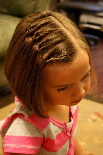 Peinado corto niña