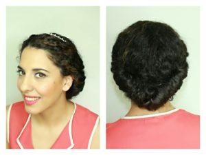 recogidos faciles y sencillos pelo rizado