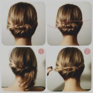 recogidos faciles y sencillos pelo corto