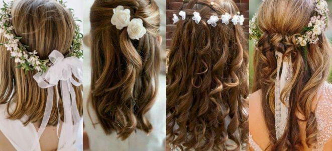 Peinados comunion nina pelo largo