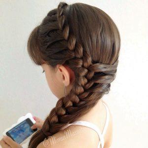 peinados para niña trenzas
