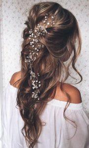 peinados semirecogidos hacia atras