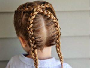 peinados trenzas completas para niña