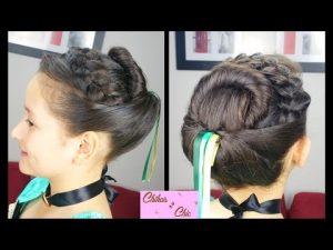 peinados para niña frozen