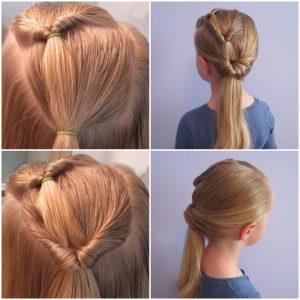 peinados para niñas con diadema