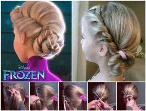 peinado frozen elsa