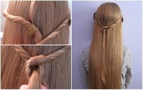 peinados para niña semirecogido